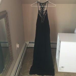 Ripcurl black lace maxi dress